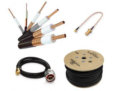 Коаксиальный радиочастотный кабель и сборки с разъемами