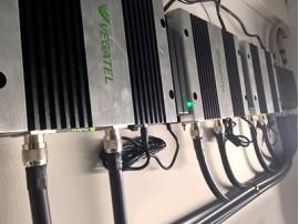 Установка системы усиления сотовой связи на объекте 15000 кв.м.
