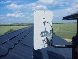 Установка 4G LTE антенны MIMO для обеспечения WiFi интернета