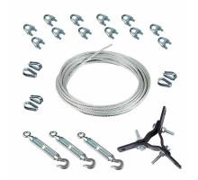Комплект растяжек КРДМ-10-3 для крепления мачты